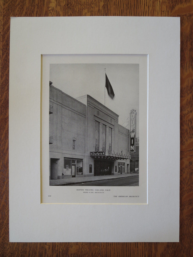 Dufwin Theatre, Oakland, CA, Weeks & Day, 1929, Lithograph