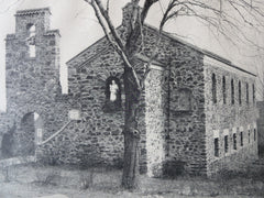 St. Michael's P.E. Church, Fairfield, CT, E. B. Caldwell, Jr., 1924, Lithograph