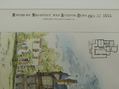 Alterations of Residence for J. H. McAvoy, Chicago, IL, 1885, Original Plan. Addison & Fiedler.