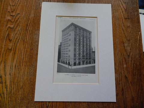 200 West 57th Street Building, NY, 1918, Lithograph. Cass Gilbert.