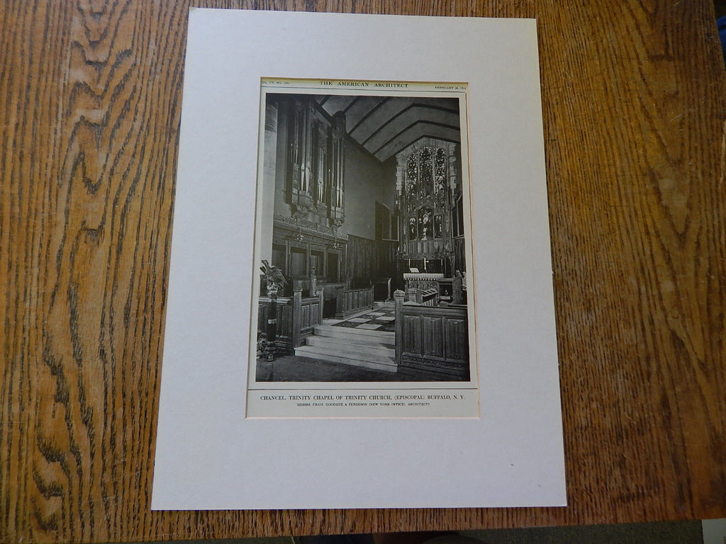 Chancel, Trinity Chapel of Trinity Church, Buffalo, NY, 1914. Cram, Goodhue & Ferguson.