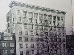 Colonial Building,Boylston St.,Boston,MA, 1901,Lithograph. Blackall.