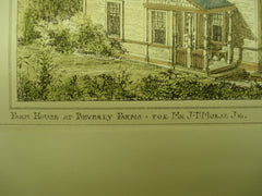 Farm House for Mr. J. T. Morse, Jr., Beverly Farms, MA, 1879, Cabot & Chandler