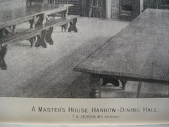 Master's House Dining Hall in Harrow, London, England, UK, 1890, T.G. Jackson