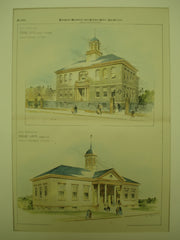 Primary School on Eustis St. and the Primary School on Morton St., Boston, MA, 1894, Edmund M. Wheelwright