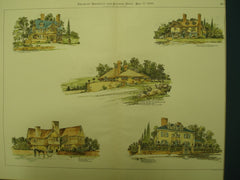 Residences in Massachusetts , Brookline, Milton & Newton Centre, MA, 1896, J. A. Schweinfurth