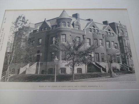 Block at the Corner of North Capitol and B Streets , Washington, DC, 1891, H.L. Page