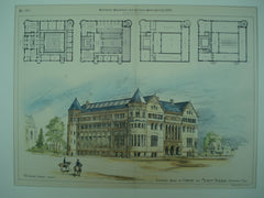Competitive Design for the Library and Museum Building , Minneapolis, MN, 1886, H. Langford Warren