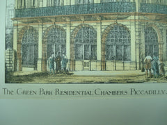 Green Park Residential Chambers in Piccadilly, London, England, UK, 1883, J. G. Finch Noyes