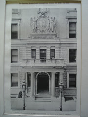 Entrance to the Building of the American Society for the Prevention of Cruelty to Animals , New York, NY, 1898, Unknown