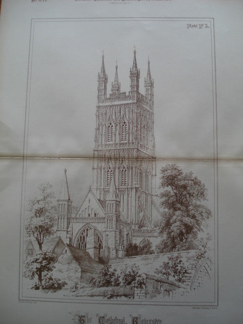Cathedral, Gloucester, Gloucestershire, England, UK, 1888, Not Stated