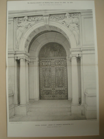 Central Doorway: Library of Congress, Washington, DC, 1898, Frederick MacMonnies