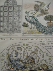 Aesop's Fables Panels, Holland Park, UK, 1884, Walter Crane