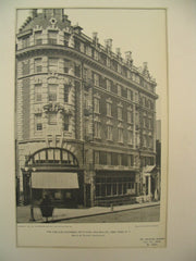 Carlyle Chambers on 5th Avenue and 38th Street, New York, NY, 1901, Herts and Tallant