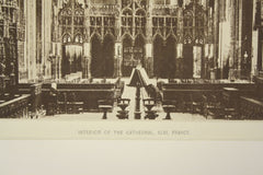 Interior of the Cathedral , Albi, France, EUR, 1890, Unknown