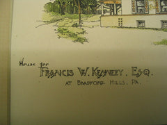 Laudry and Carriage House for Francis W. Kennedy, Esq, and the House for Francis W. Kennedy, Esq, Bradford Hills, PA, 1889, Frank Miles Day