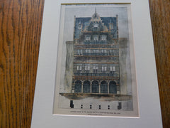 American Institute Exhibition Bldg, NY, NY 1894. Original Plan. Hand Colored. Romeyn & Stever.