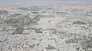 AJ4K_017 - Aerial 4K footage of Jerusalem: Christian Quarter and Church of the Holy Sepulchre