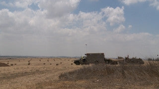 TZE_009 Israel military footage: Gaza War 2014 Operation Protective Edge - IDF soldiers protecting kibbutzim along Gaza border
