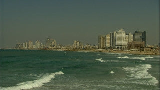 T_035 Tel Aviv stock footage: people walking on Rothschild Boulevard