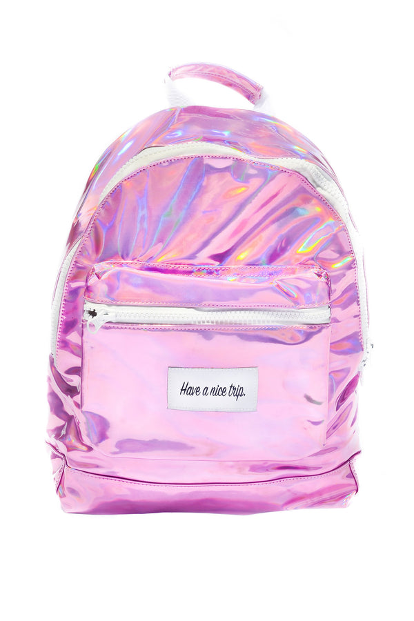 Festy Besty Time Traveler Backpack Pink Holographic