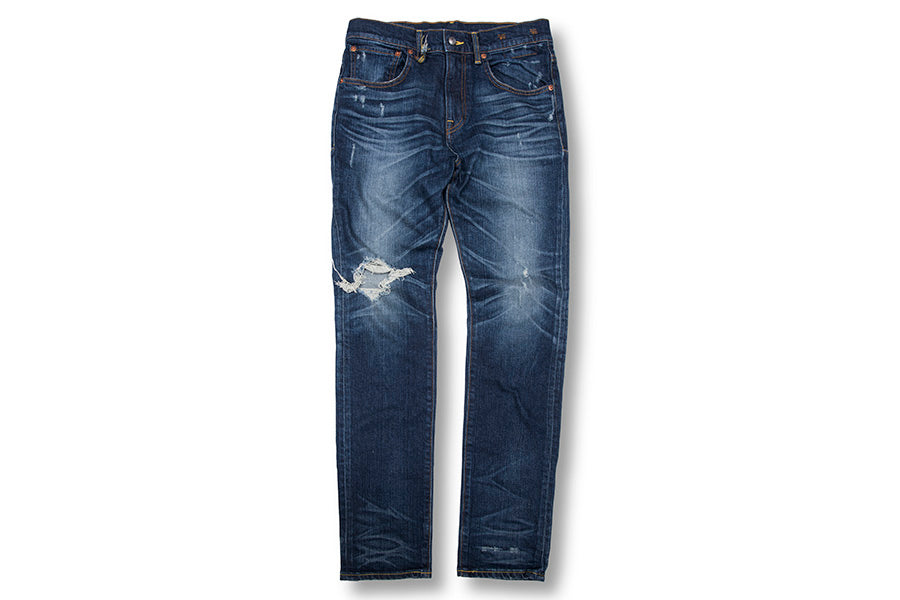 Distressed detail jeans