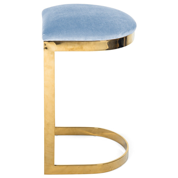 Ibiza Backless Bar and Counter Stool in Velvet - ModShop1.com