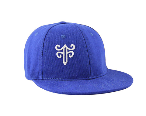 Classic Fitted Hat in Royal Blue