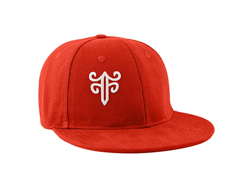 Classic Fitted Hat in Red