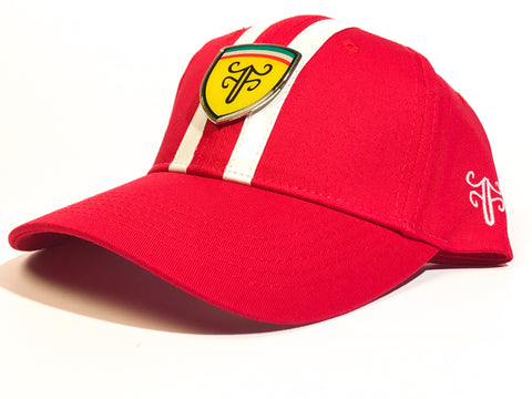 Voom Voom strapback hat — Red