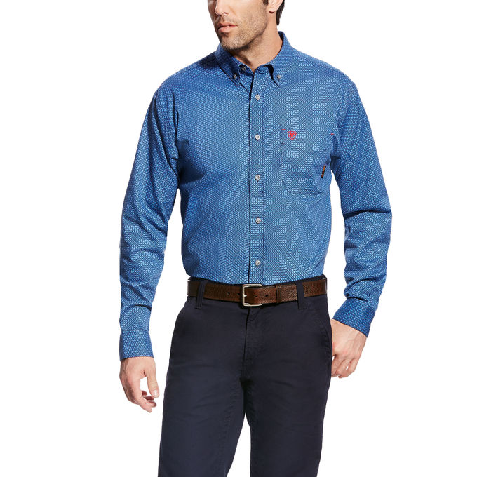 CLEARANCE MEN'S Ariat FR Basic Burleigh Work Shirt 10022335 SIZE:  2XL