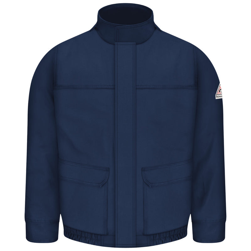 Bulwark FR fire retardant Navy Lined Bomber Jacket Coat- CAT 3 - JLJ8NV
