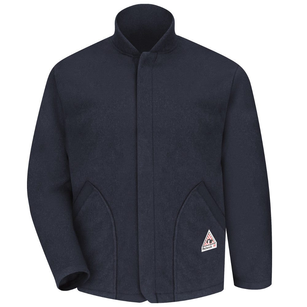 Bulwark FR fire retardant Navy FLEECE JACKET SLEEVED LINER - CAT 2 - LML6NV