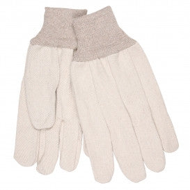 Memphis 8300C Heavy Weight Cotton Canvas Gloves - Clute Pattern - Knit Wrist - Natural