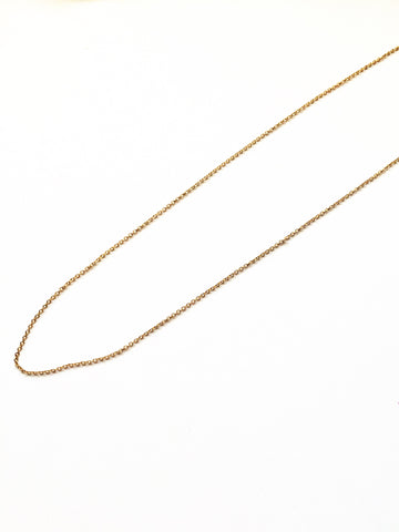 Long Plain Chain- (no hole for hanging charm)