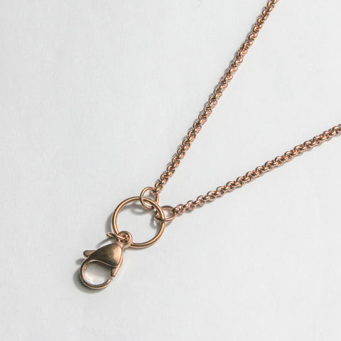 Long Plain Chain- Rose Gold
