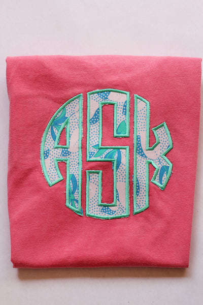 Custom Monogrammed Color-Pop Tee