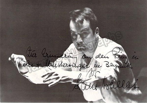 Wallat, Hans - Signed Photo 1970
