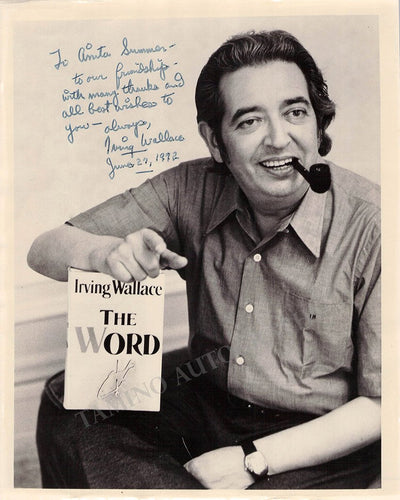 Wallace, Irving - Signed Photo 1972