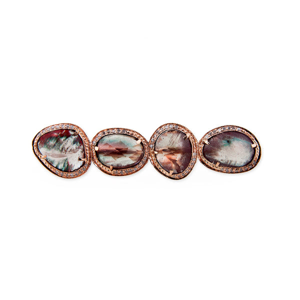 FREEFORM SUNSTONE KNUCKLE RING