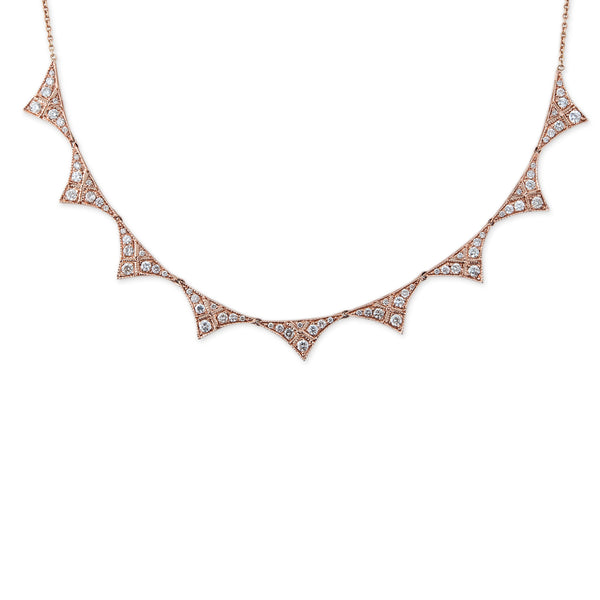 PAVE CURVED TRIANGLE COLLAR NECKLACE