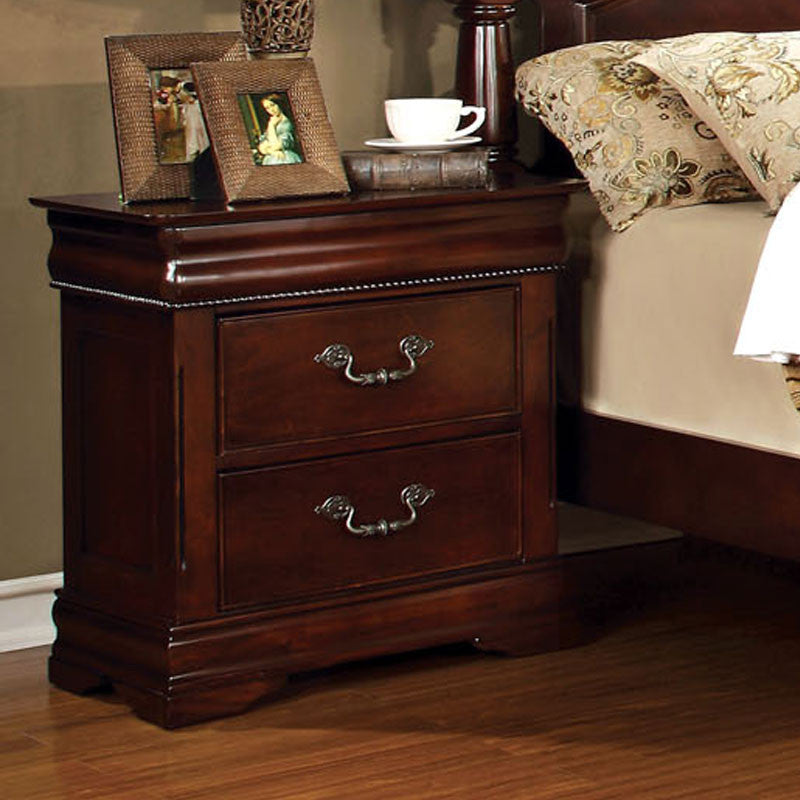 Mandura Traditional English Style Cherry Bedroom Nightstand