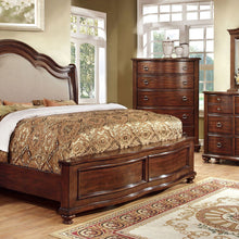 Bellavista Traditional Elegant Style Brown Cherry Finish Bed