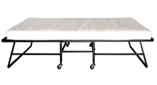 Sosa Contemporary Foldable Metal Frame Rollaway Bed with Mattress