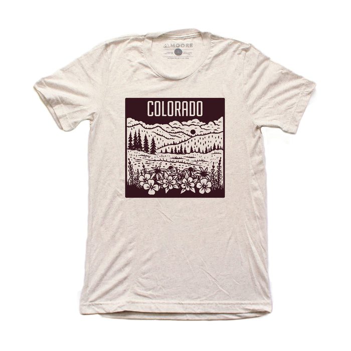 Colorado Mountain Tee-Oatmeal