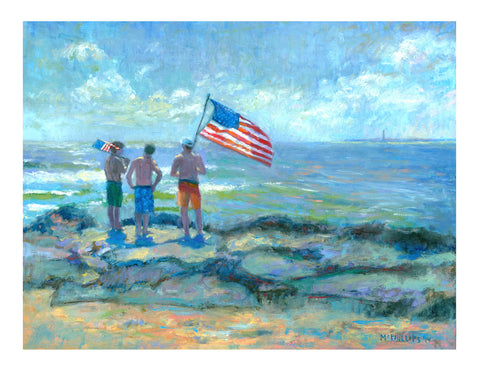 Stars & Stripes Down the Shore Giclee Print