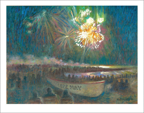 Cape May Fireworks Limited Edition Giclee Print