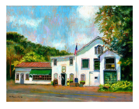 Carversville Grocery Giclee Print by James McPhillips