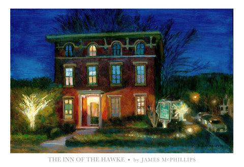 Signed Inn of The Hawke (Lambertville, NJ) Poster Print by James McPhillips