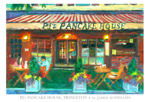 "Signed ""PJ's Pancake House"" Poster by James McPhillips"